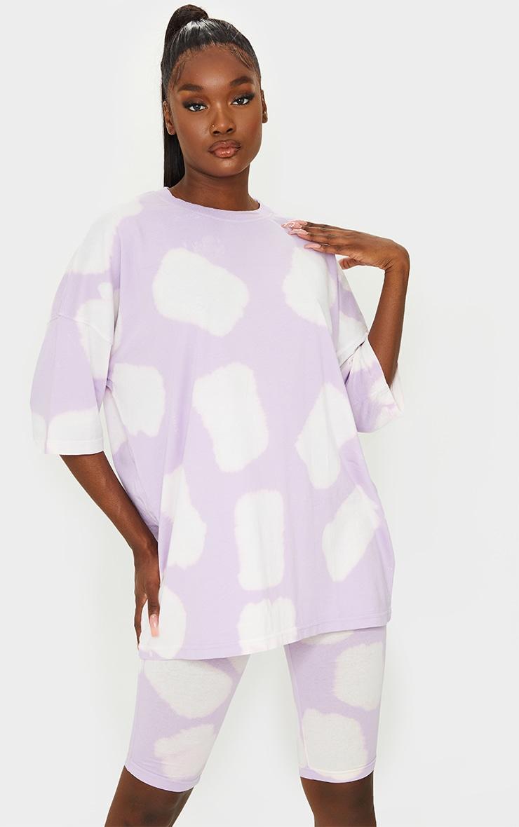 Tall Lilac Oversized Tie Dye T Shirt 1