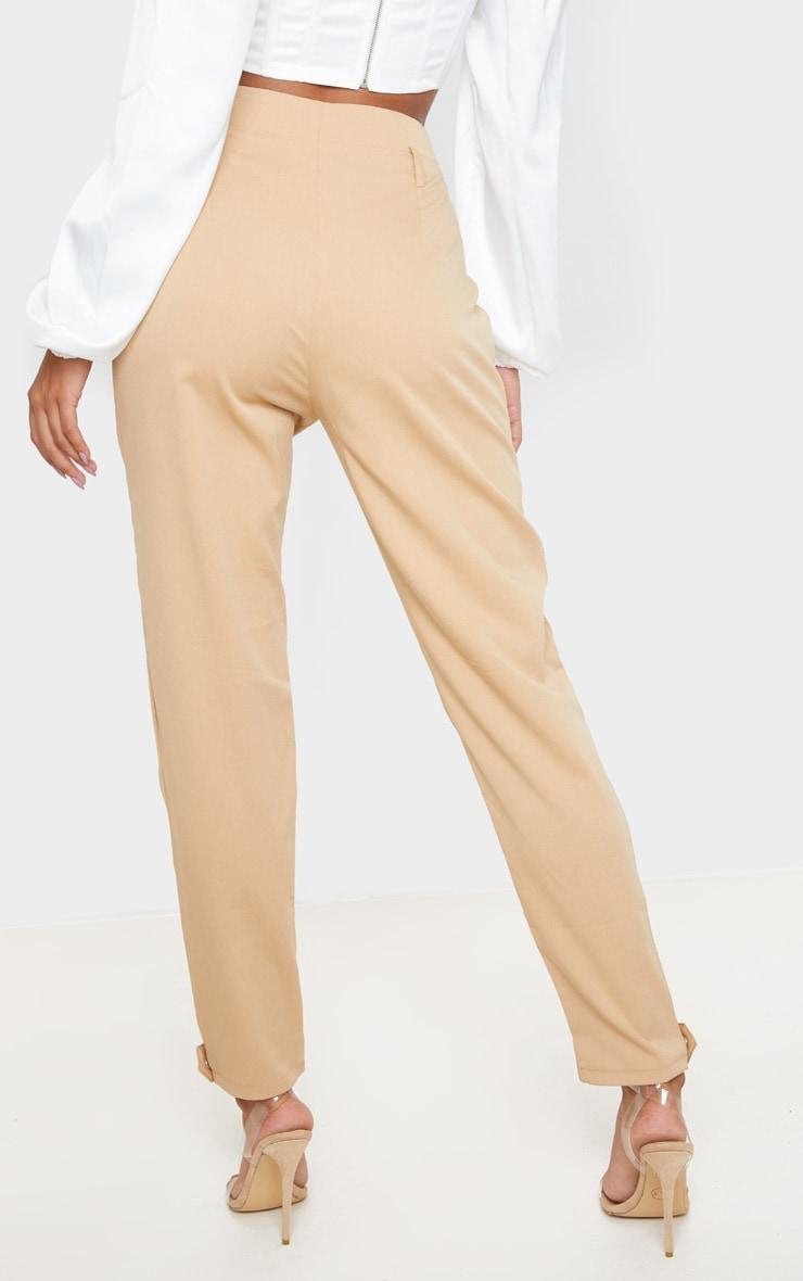 Camel Cuff Hem Trousers  4