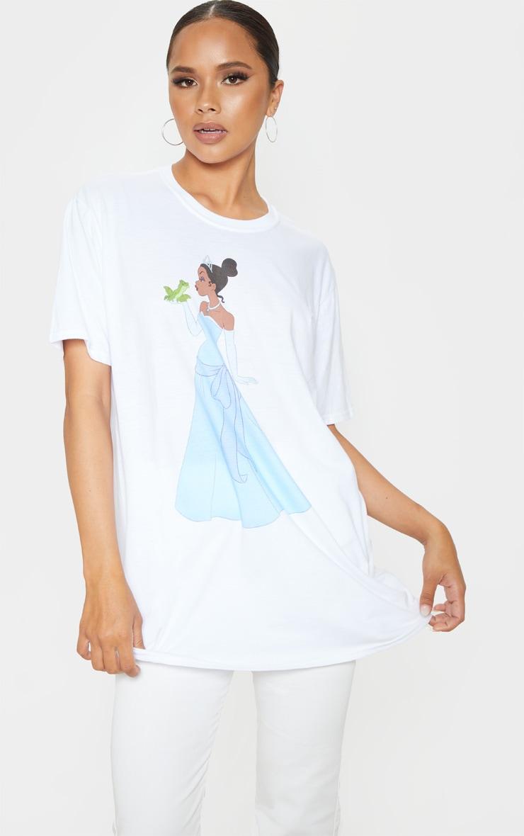 White Disney Princess & The Frog Oversized T Shirt 1