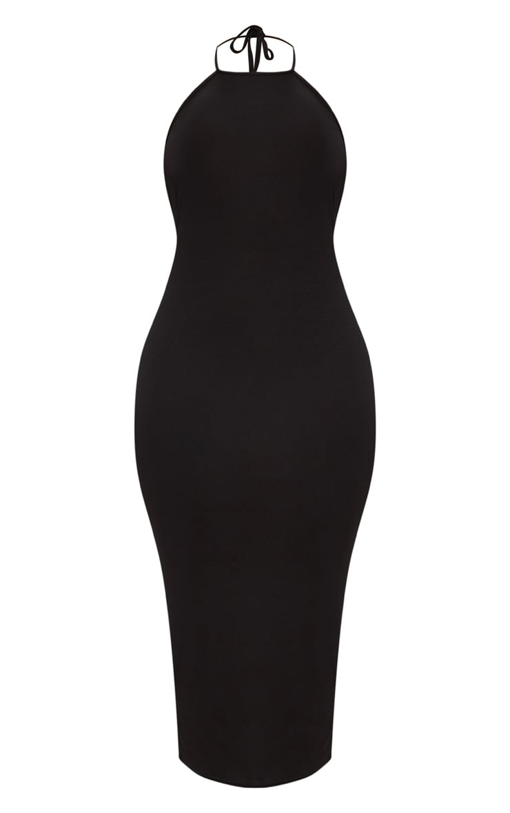 Plus Black Halterneck Midi Dress 3