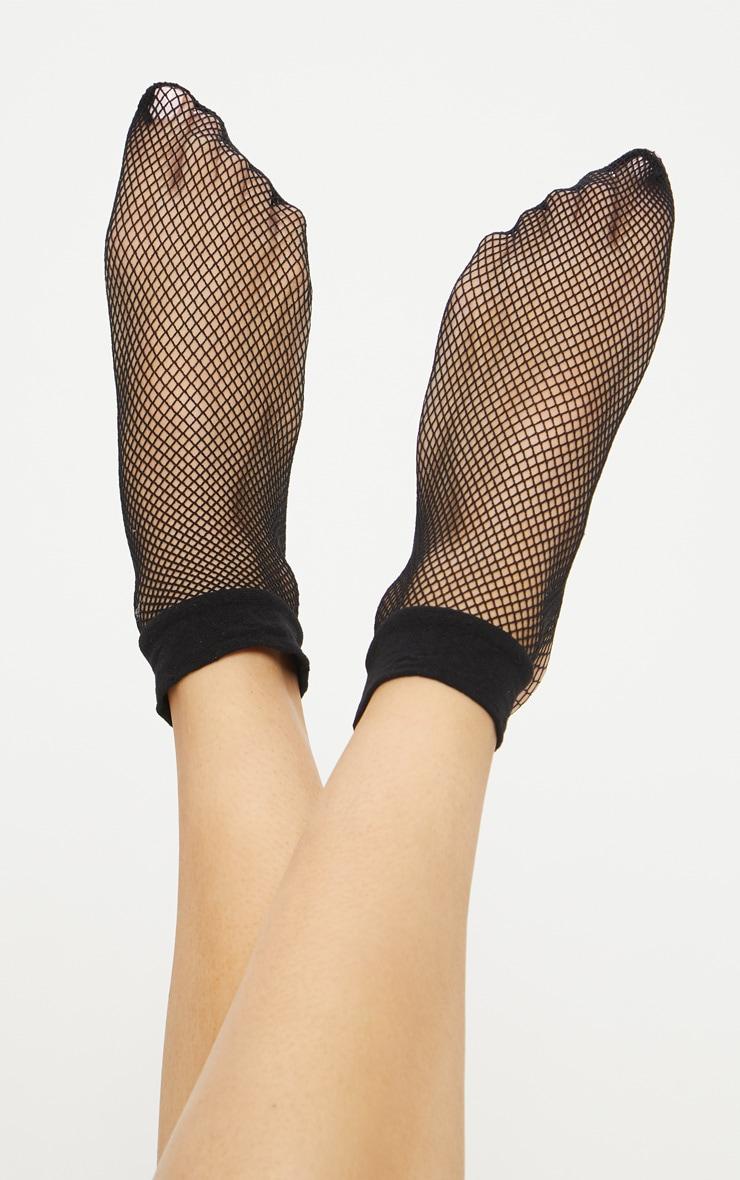Black Fishnet Socks 1