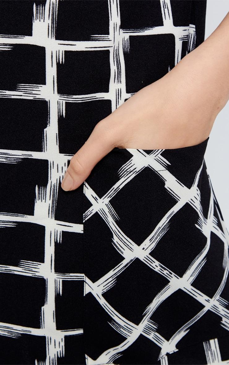 Agni Black Check Shift Dress 3