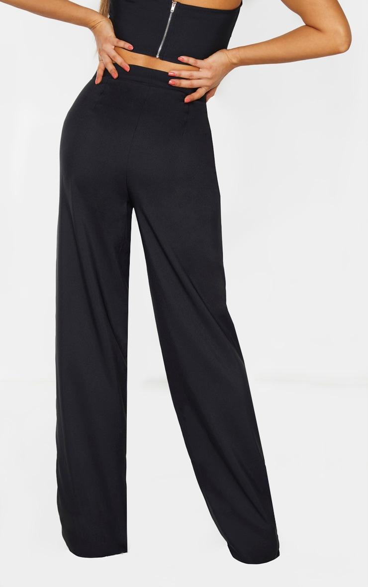 Tall Black Woven Wide Leg Pants 4