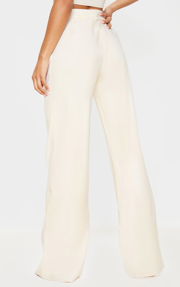 Stone High Waisted Wide Leg Suit Pants 4