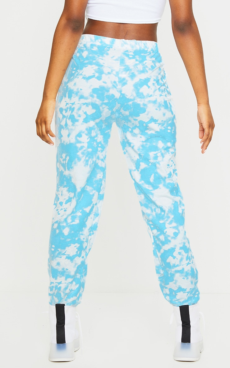 Blue Tie Dye Casual Sweatpants 3