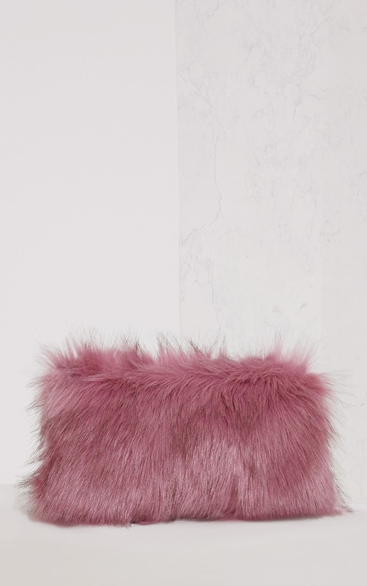 Christah Rose Faux Fur Chain Shoulder Bag 4