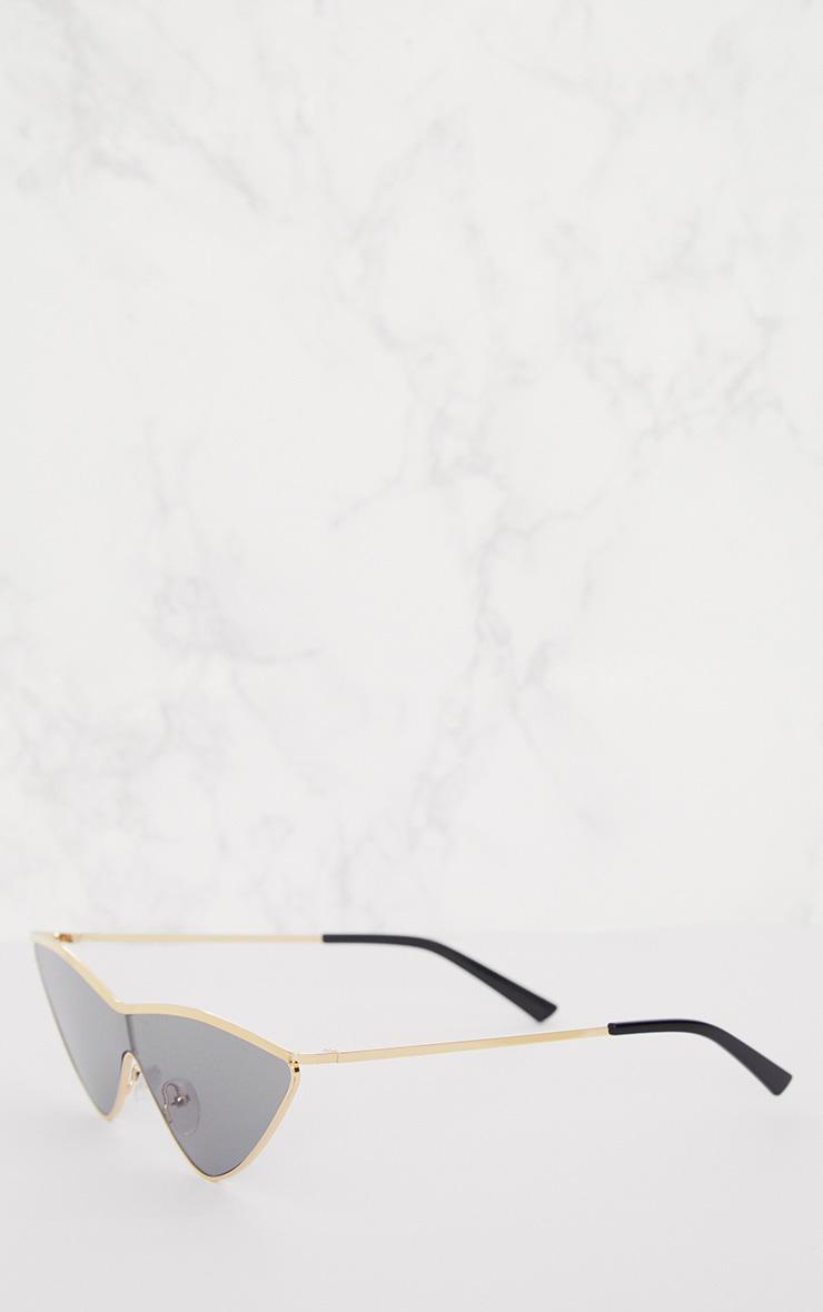 Black Extreme Cat Eye Sports Sunglasses 4