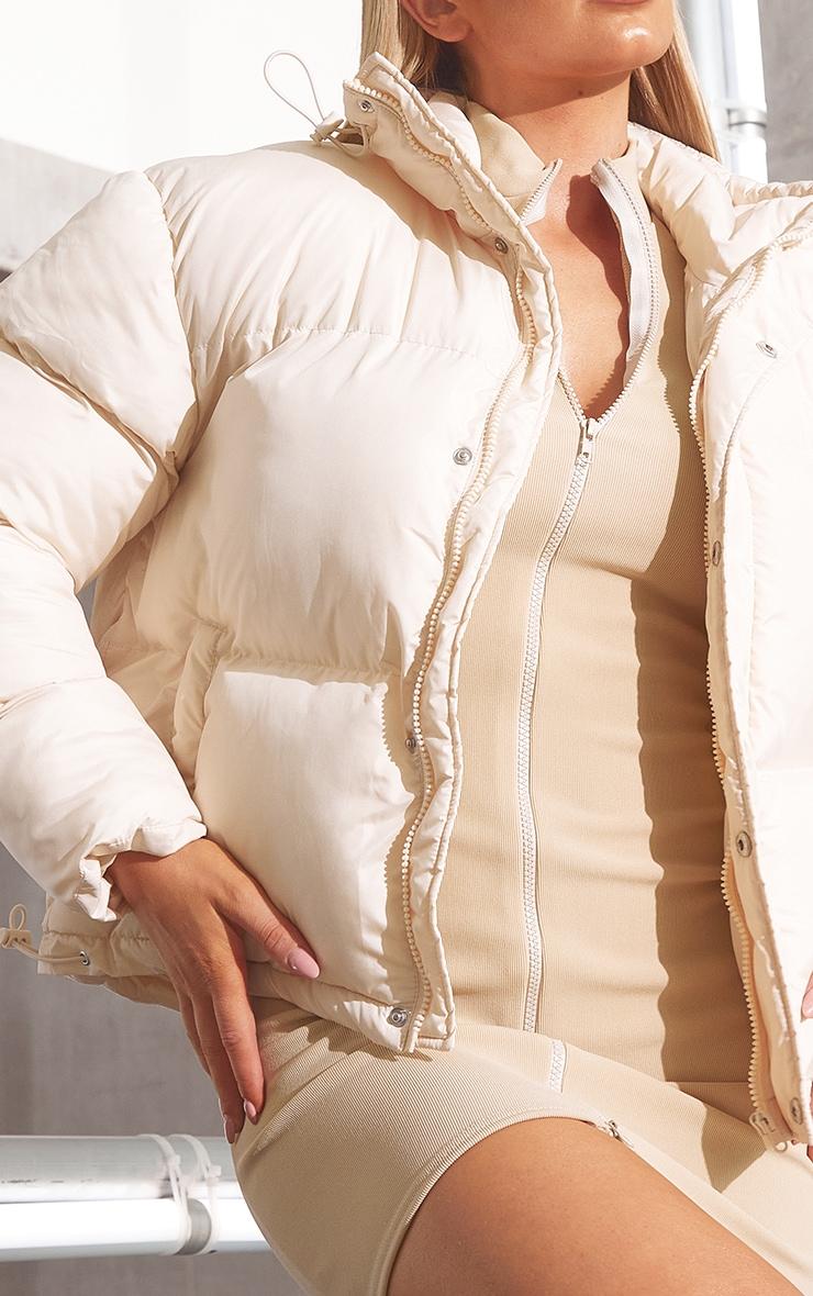 RENEW Cream Toggle Detail Puffer Jacket 4