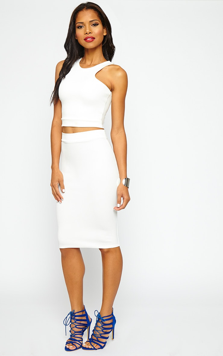 Janine Cream Sleeveless Crop Top 3