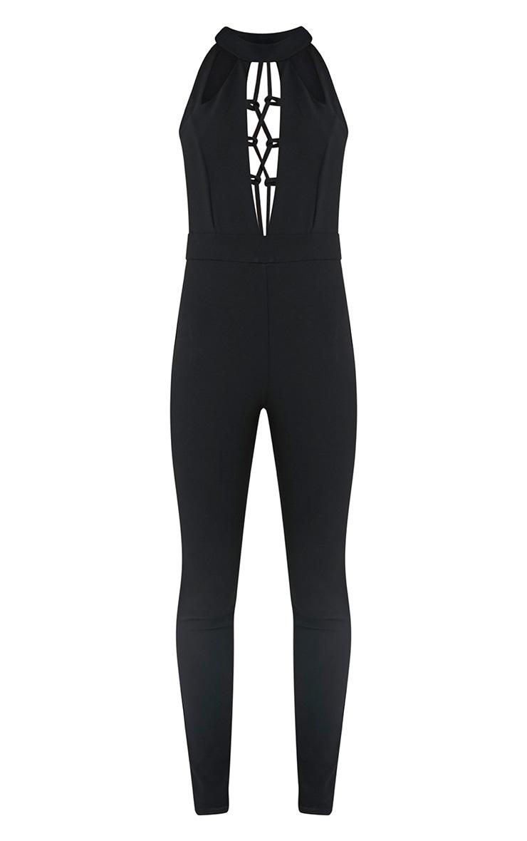 Oliviah Black Harness Crepe Jumpsuit 2