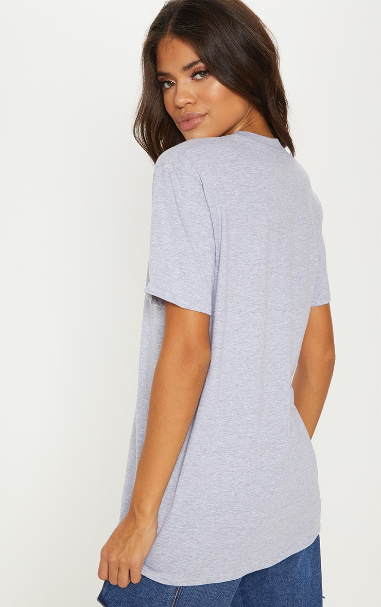 Grey Marl Friends Logo Printed T-Shirt 2