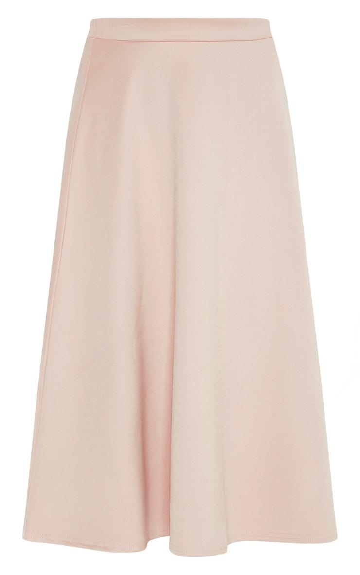 Stone Scuba Flippy A Line Midi Skirt  3