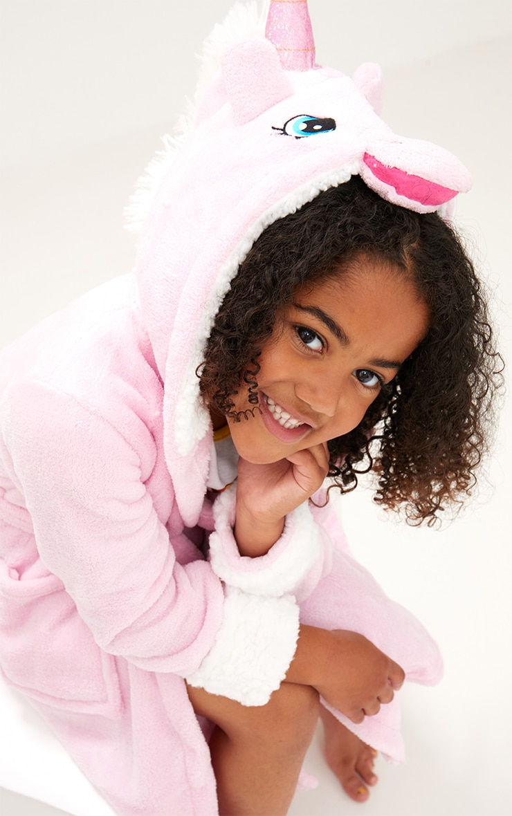 Unicorn Pink Dressing Gown 4