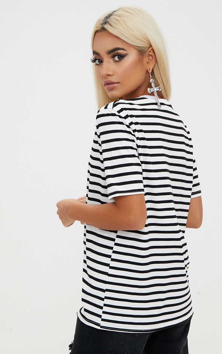 Black Stripe T Shirt  2