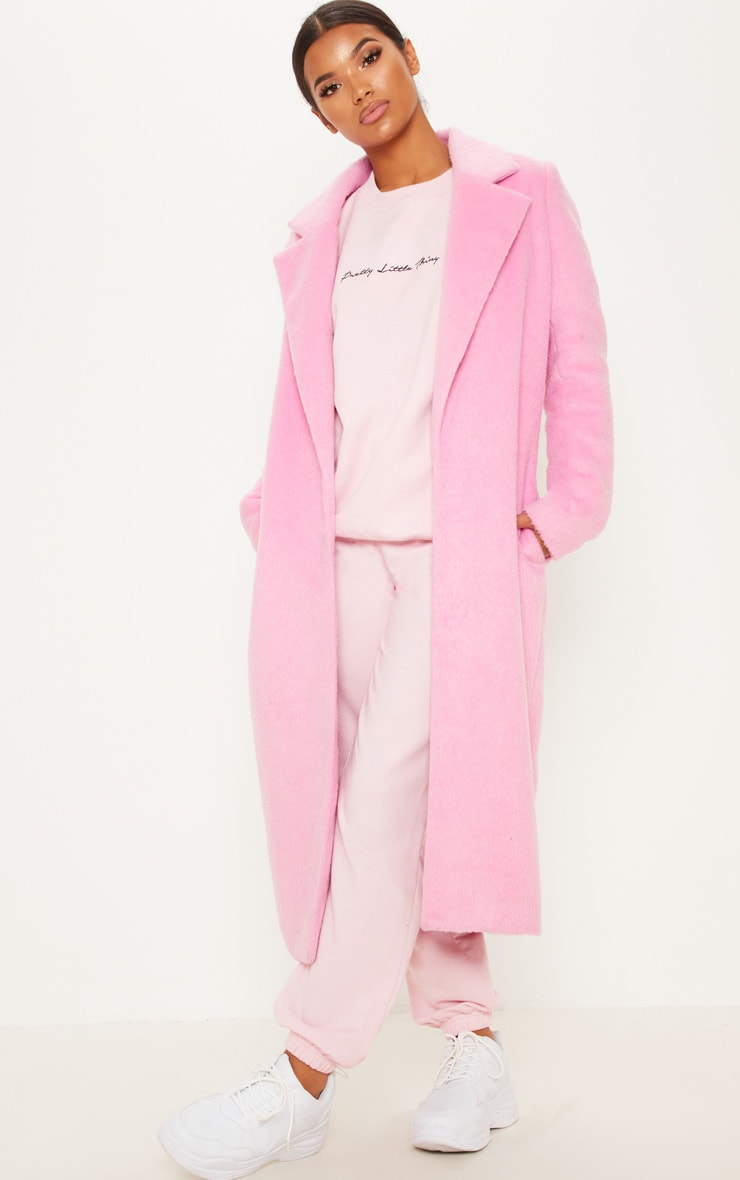 PRETTYLITTLETHING Recycled Baby Pink Oversized Sweatshirt 3