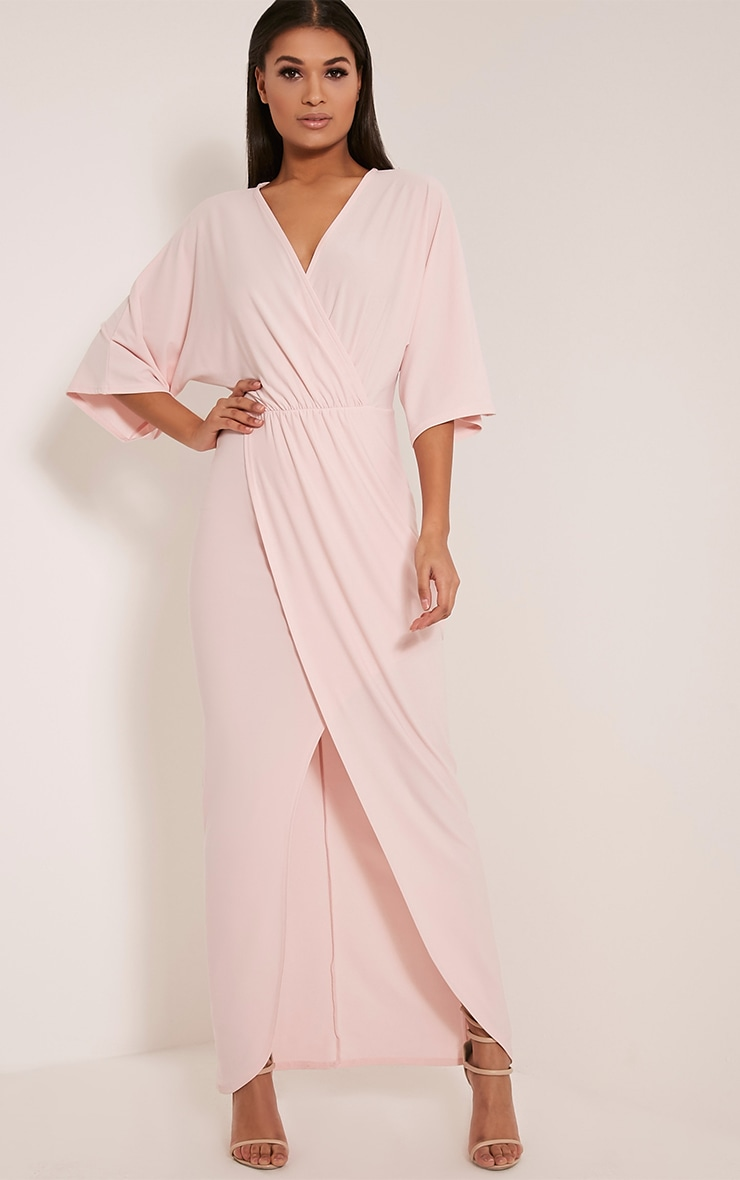 Archer Blush Cape Maxi Dress 1