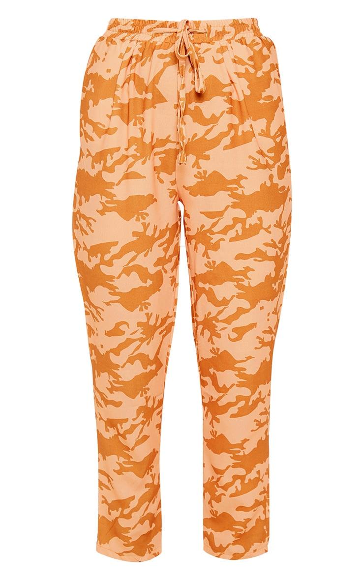 Burnt Orange Camo Print Cigarette Trouser 3