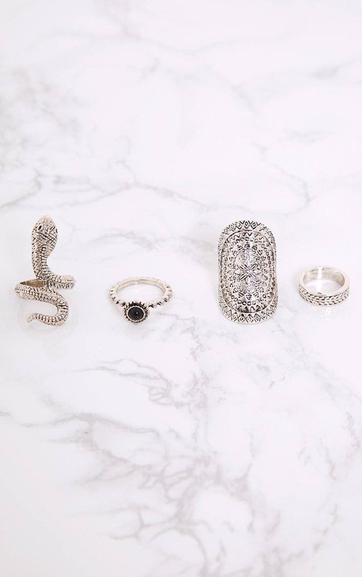 Nerissa Silver Snake Ring Set 1