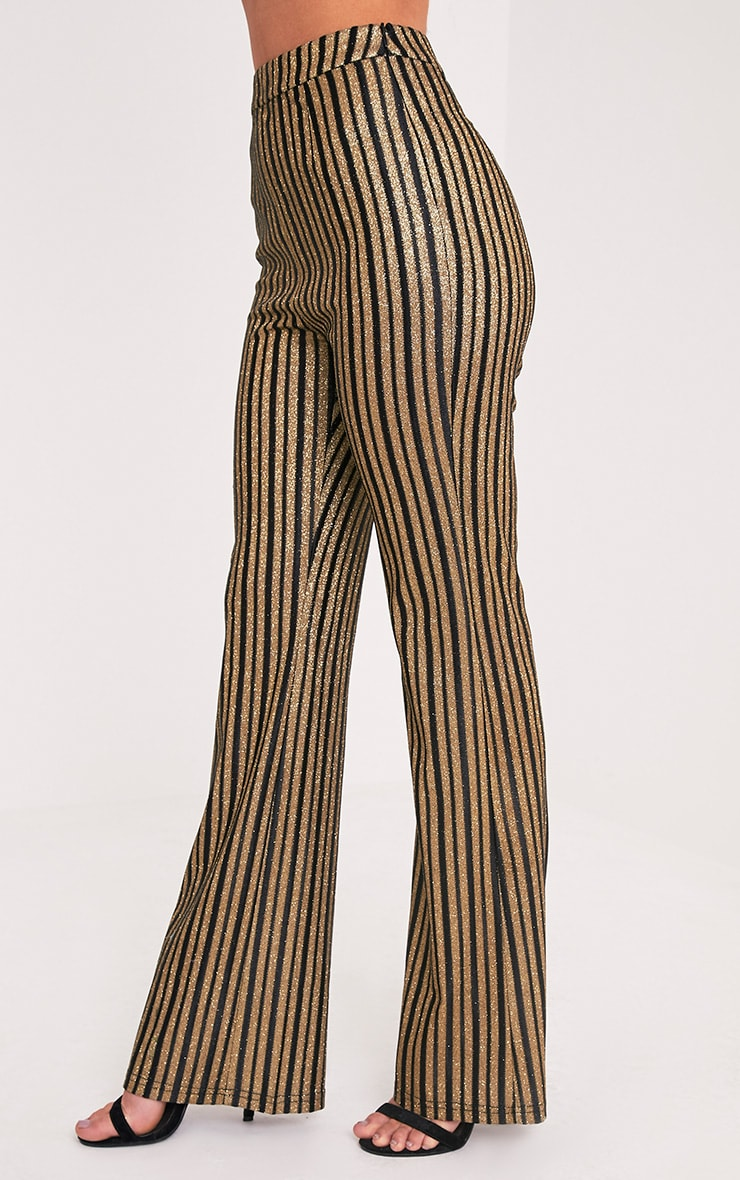 Lashelle Black Sparkle Stripe Trousers 4