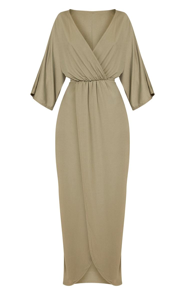 Archer Khaki Cape Maxi Dress 3