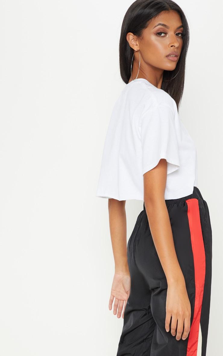 White Female Symbol Crop T Shirt 2