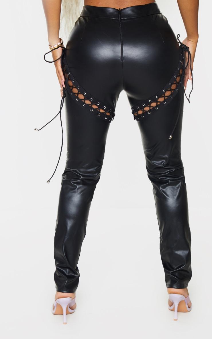 Shape Black Faux Leather Skinny Pants 3