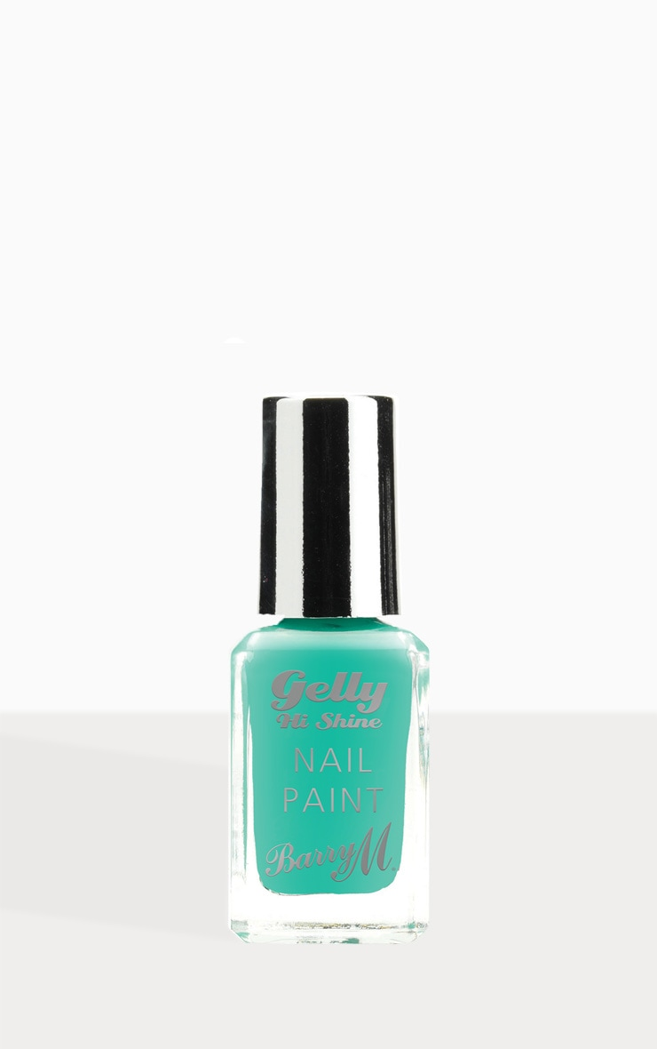Barry M Gelly Hi Shine Nail Paint Green Berry 1