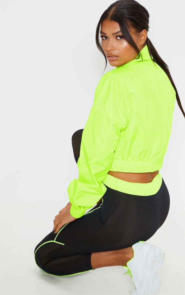 Lime Shell Zip Up Tracksuit Top 2