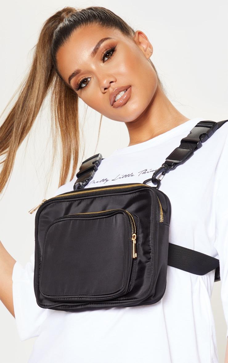 Black Nylon Harness Bag 1