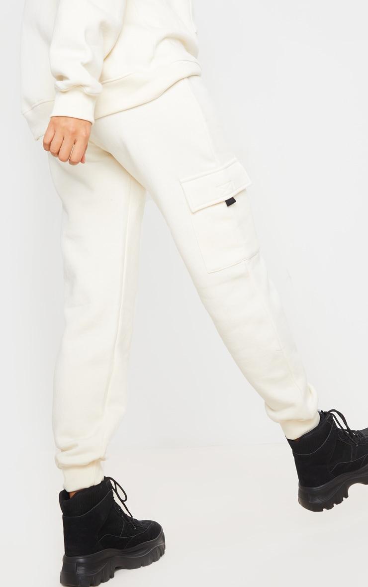 Cream Pocket Joggers 3