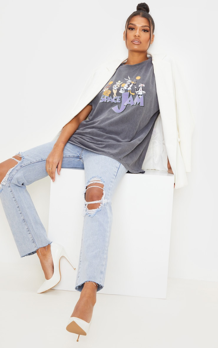 Grey Space Jam Washed T Shirt 3