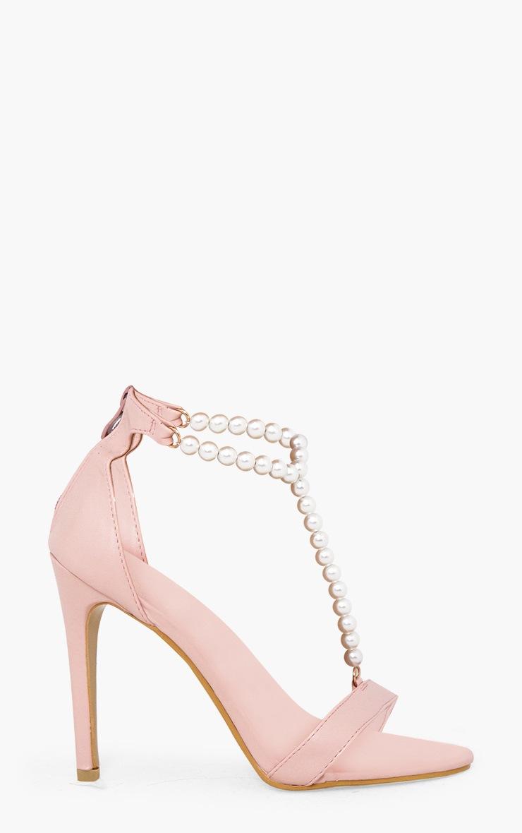 Blush Pearl T-Bar Strap Heels 3