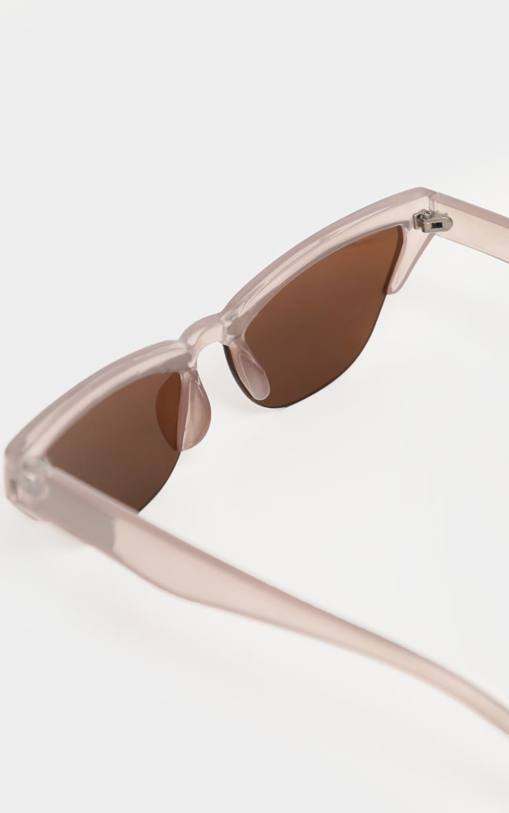 Taupe Slim Cat Eye Sunglasses 4
