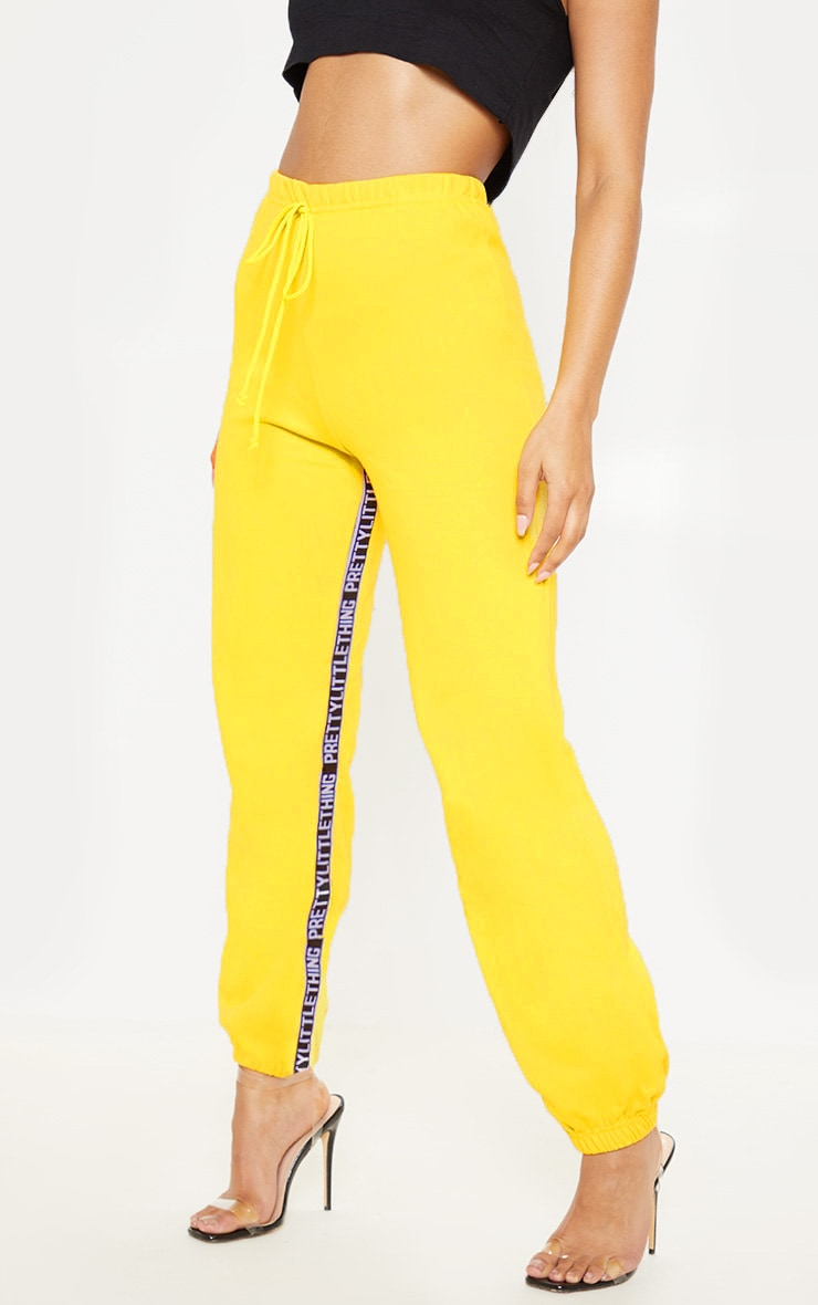 PRETTYLITTLETHING Yellow Joggers 2