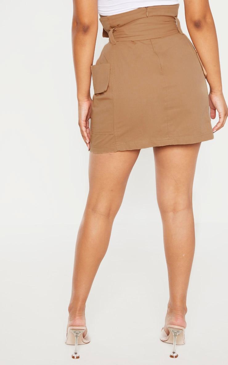Petite Stone Belted Cargo Skirt 4
