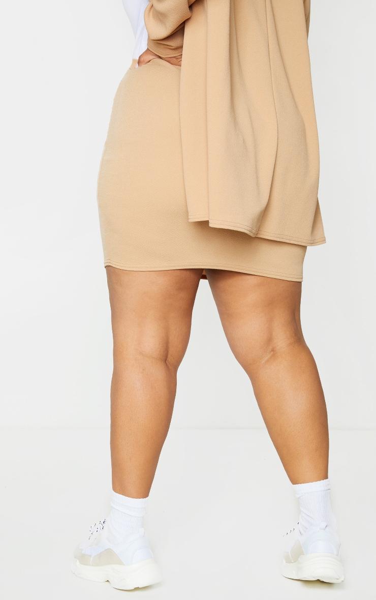 Plus Camel Mini Suit Skirt 3