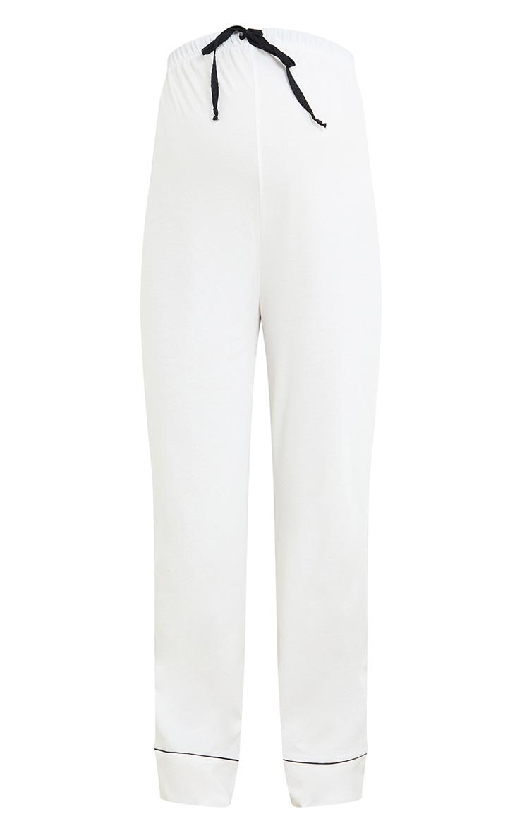 Maternity White Wide Leg PJ Pants 5