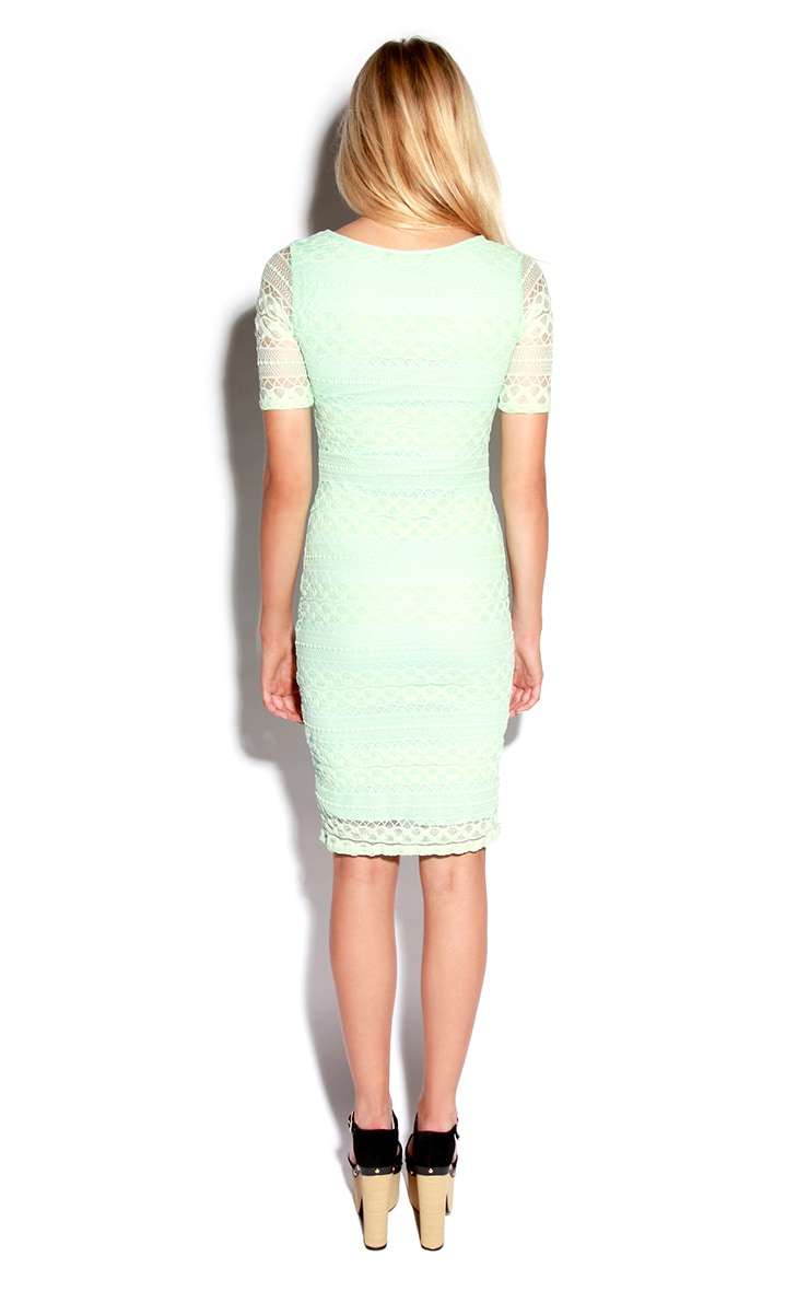 Mint Lace Bodycon Midi Dress 2