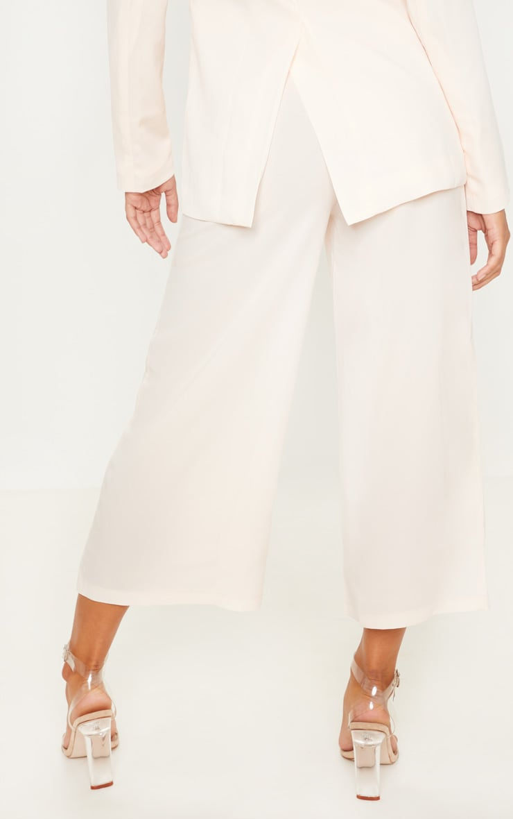 Cream Button Detail Culottes 4