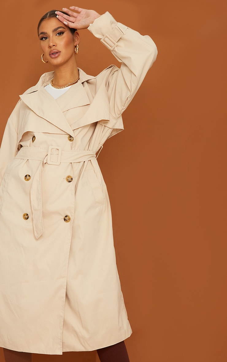 Tall Stone Oversized Belted Midi Trench 4