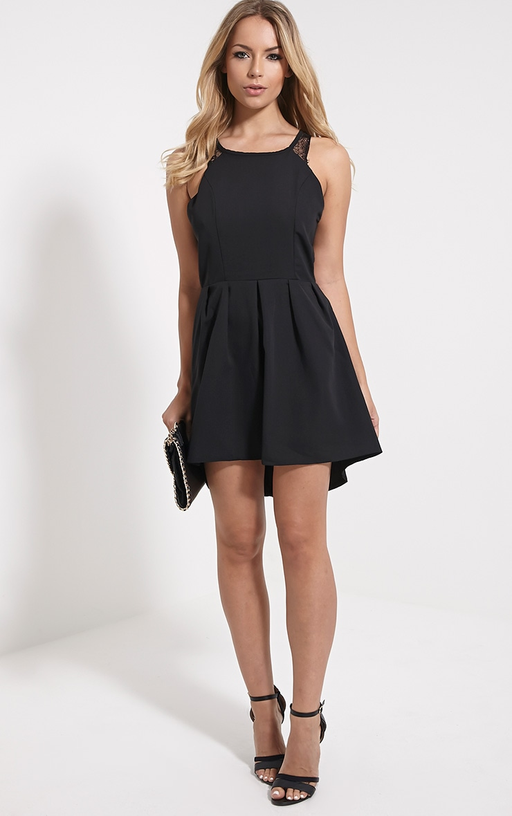 Esmae Black Lace Detail Dress 3