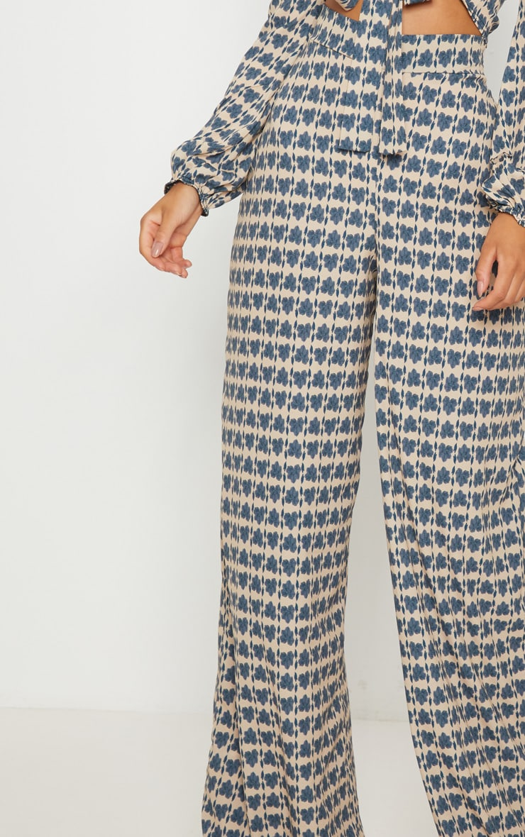 Stone Printed Wide Leg Trousers 5