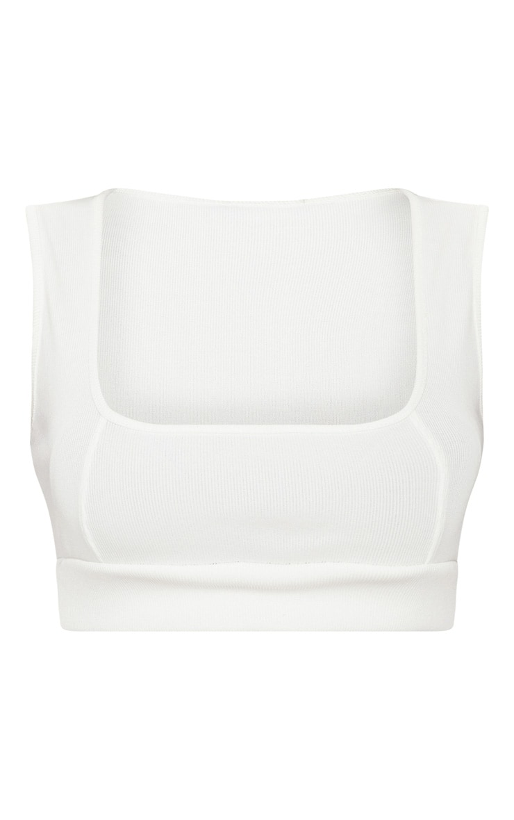 White Bandage Crop Top 4