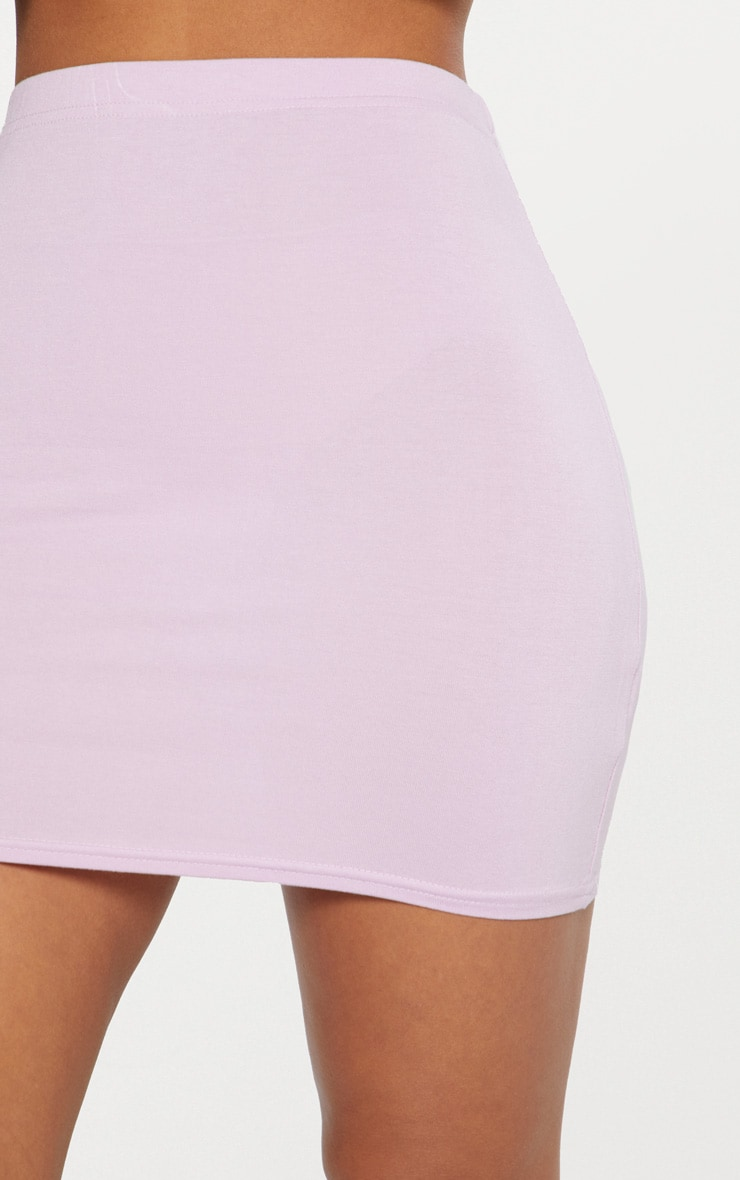 Basic Lilac Jersey Mini Skirt 6