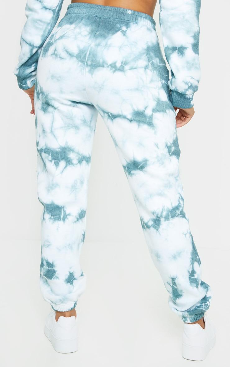 Shape Dusty Blue Tie Dye High Waist Joggers 2