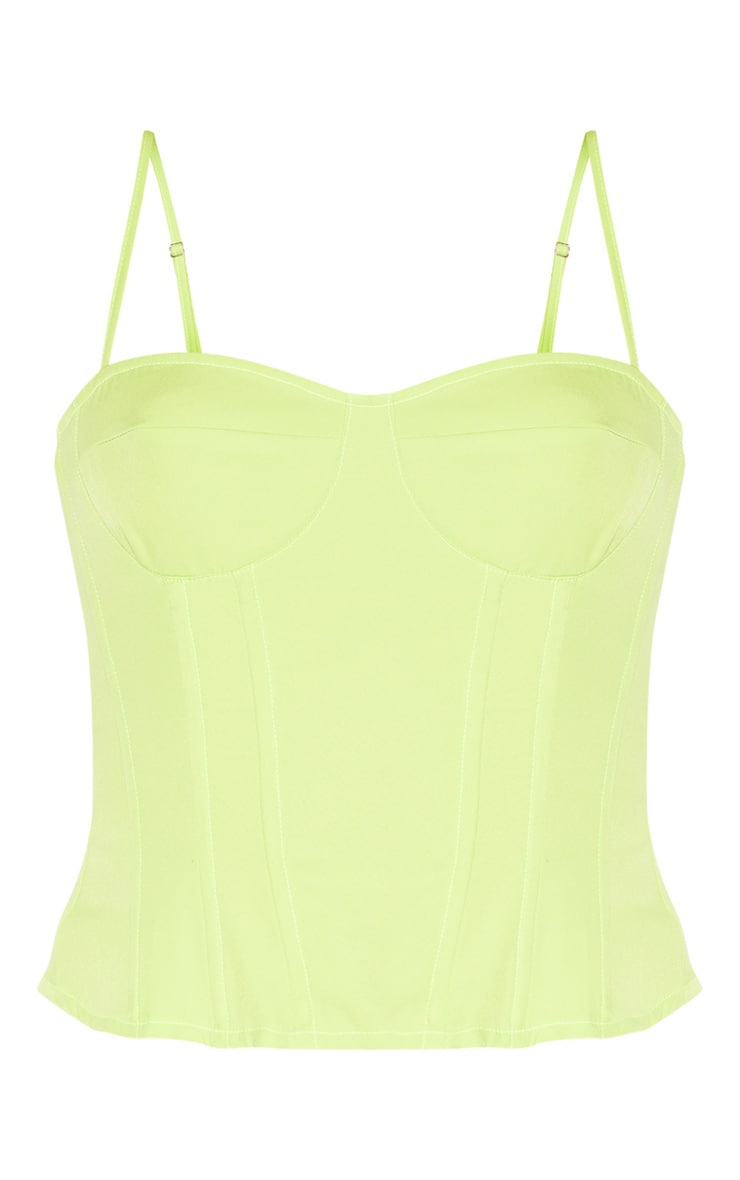Lime Structured Corset Top 3
