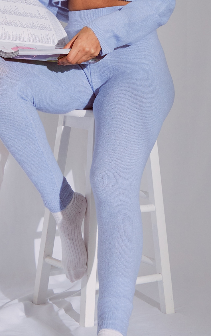 Baby Blue Soft Knit Joggers 4