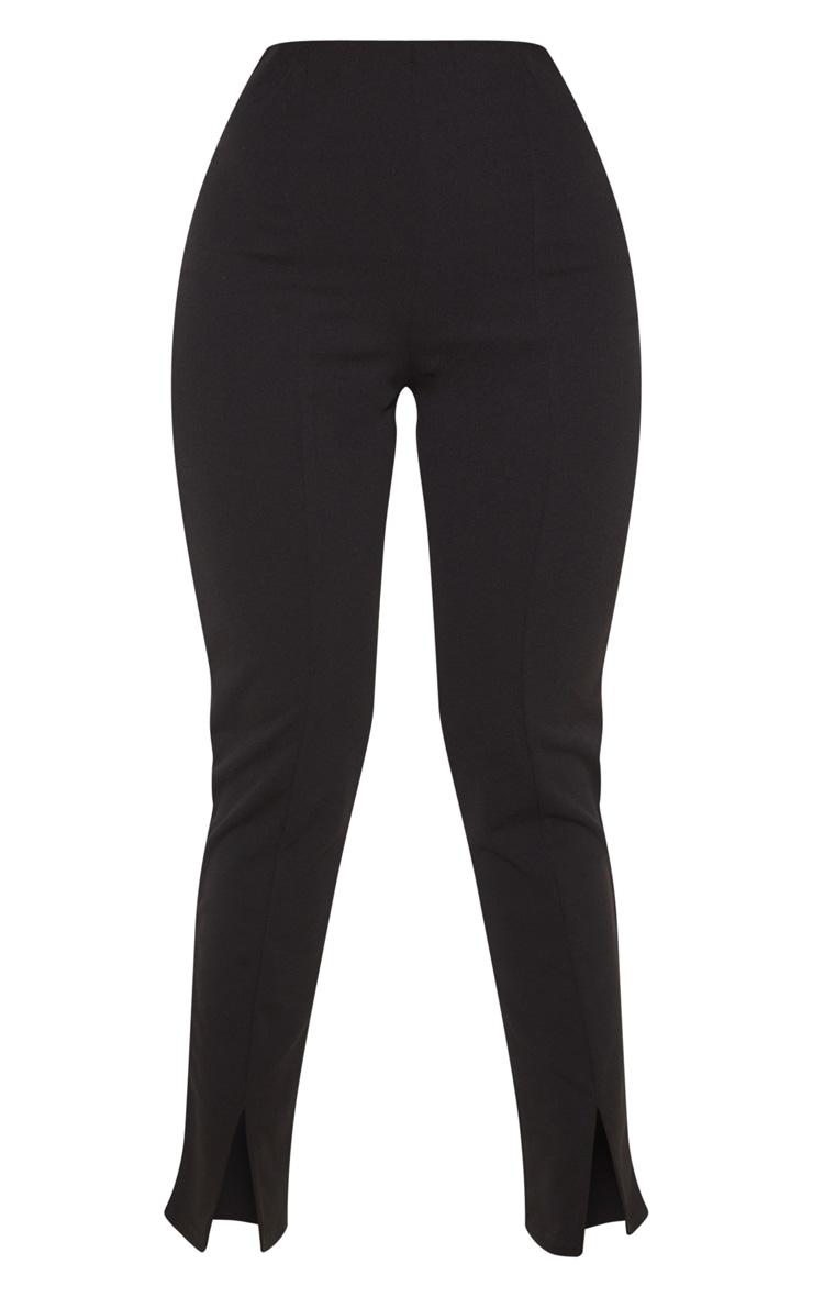Black Split Hem Front Pants 3