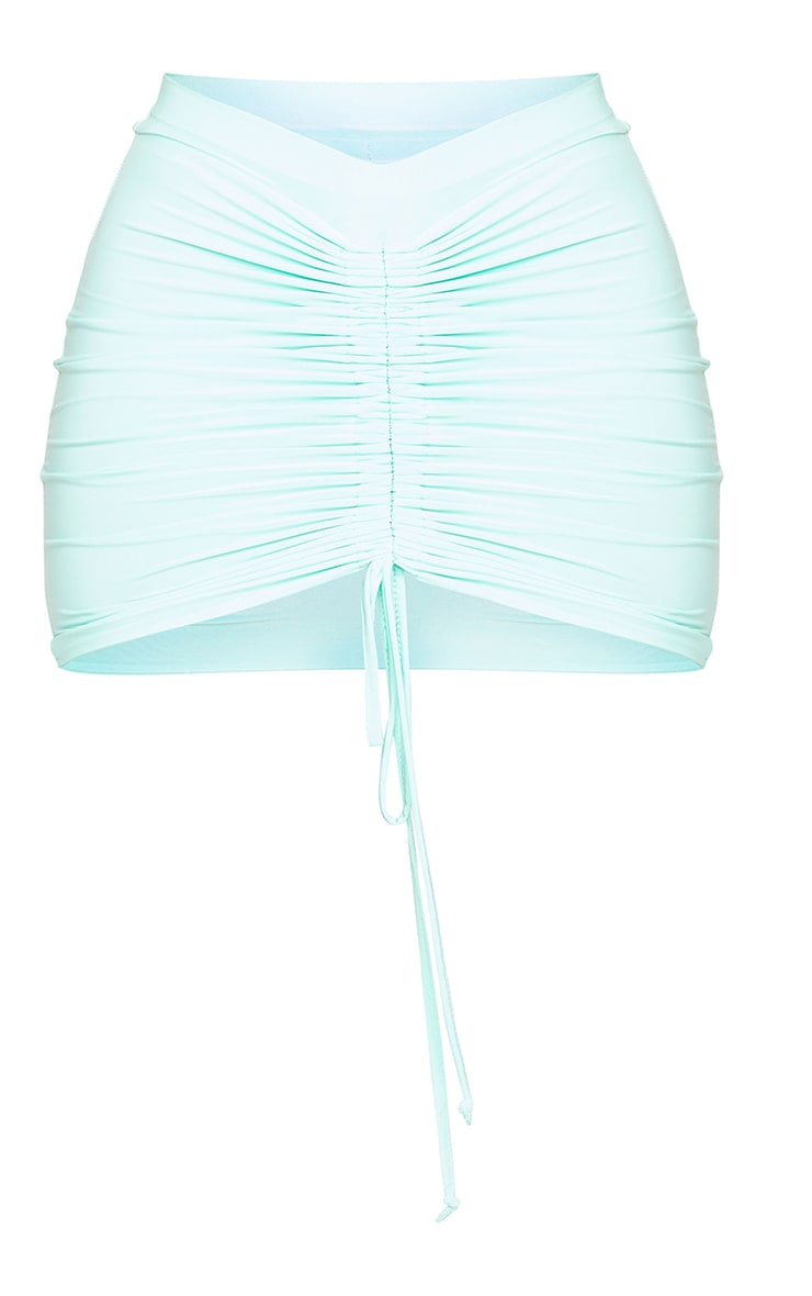 Shape Mint Slinky Ruched Front Bodycon Skirt 6