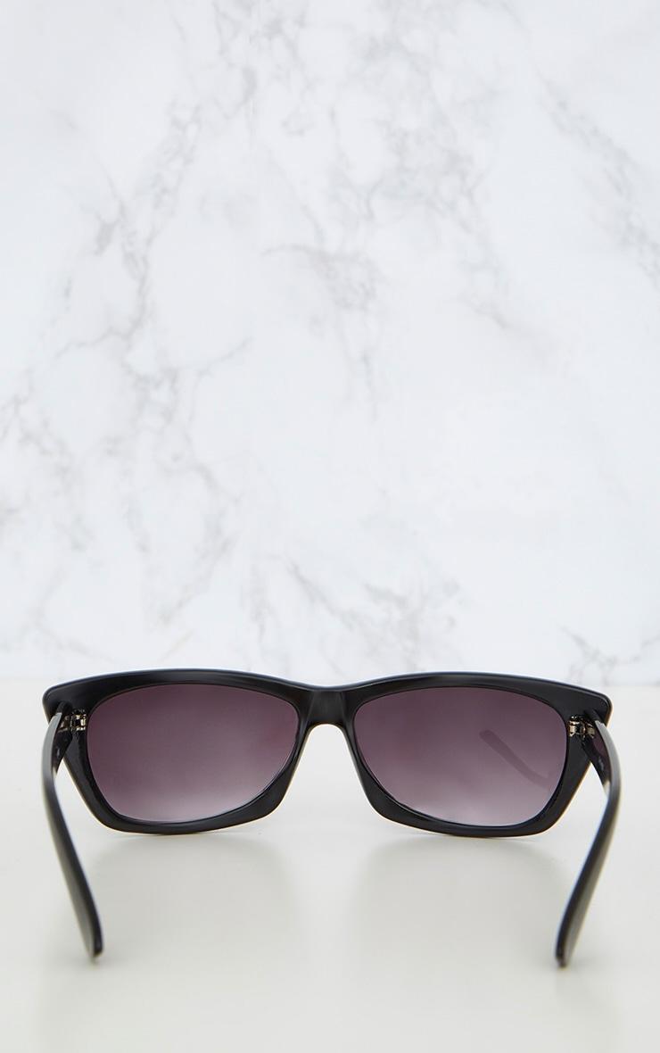 Black Wide Cat Eye Retro Sunglasses 5